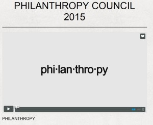 Philanthropy Video Image